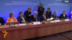 Ukrainian, Georgian, and Moldovan Leaders Sign Accords On Closer EU Ties
