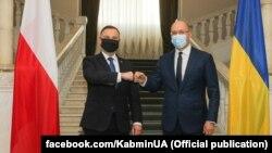 Зустріч Анджея Дуди з українським прем'єром Денисом Шмигалем. Київ, 12 жовтня 2020 року