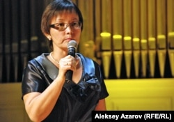 Директор дома-музея А. Байтурсынова в Алматы Райхан Имаханбет. Алматы, 5 сентября 2012 года.