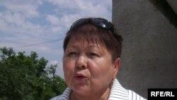 Фатима Касенова, руководитель Восточно-Казахстанского филиала оппозиционной партии «Алга», дает интервью радио Азаттык.