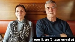Өзбекстанның бұрынғы саяси тұтқыны Мұхаммед Бекжан мен әйелі Нино Бекжан Үргеніш - Ташкент пойызында. 23 ақпан 2018 жыл.