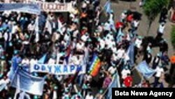 Prvomajski protest u Beogradu