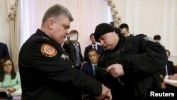 Затримання голови ДСНС Сергія Бочковського під час засідання уряду, 25 березня 2015 року