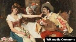 Карціна італьянскага мастака Фэдэрыка Андрэоці (1847-1930)