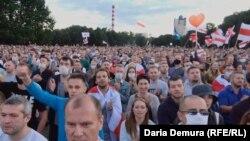 Беларустагы бийликке каршы акция. 8-август, 2020-жыл.