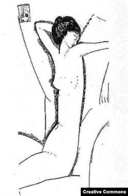 Анна Ахматова – рисунок Модильяни, 1910 год