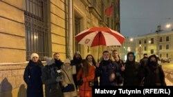 Акция протеста у белорусского посольства