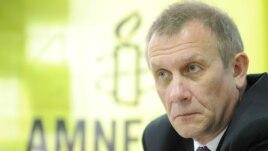 Amnesty International ұйымының Ресей бөлімінің басшысы Сергей Никитин. Мәскеу, 23 мамыр 2012 жыл.