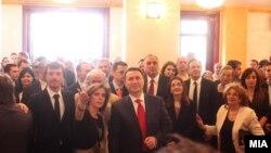 Премиерот Никола Груевски во новиот театар.