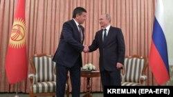 Президент Жээнбеков менен орус президенти Владимир Путиндин Душанбедеги кездешүүсү.