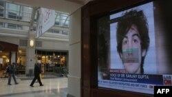 Джохар Царнаевтың теледидардан көрсетіліп жатқан суреті. АҚШ, Бостон, 23 сәуір 2013 жыл.