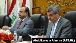 محافظ البصرة خلف عبد الصمد ورئيس مجلسها صباح البزوني