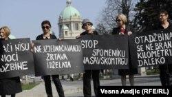 Protest Žena u crnom, Beograd, 23.mart 2012.