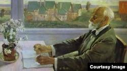 Михаил Нестеров. Портрет Ивана Павлова. 1935
