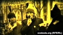 Сяржук Вітушка на мітынгу ў абарону Верхняга гораду ў Менску