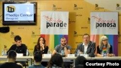 Konferencija za novinare na kojoj je najavljena trasa 2. Parade ponosa, Beograd, 26.09.2011. Foto: Media Centar Beograd