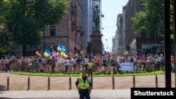 Helsinkidə etiraz aksiyası, 16 iyul, 2018-ci il