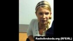 Тимошенконың видеомәлімдемесінен алынған скрин-шот. 29 қыркүйек 2012 жыл.