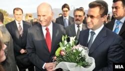 Премиерите Папандреу и Груевски во Пили - Преспа, 27.11.2009