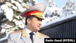 Тажик коргоо министринин мурдагы орун басары, генерал Назарзода.