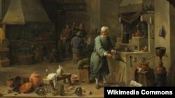 Давід Тэнье. У майстэрні альхіміка. XVII ст.