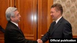 Serzh Sarkisian və «Gazprom»un rəhbəri Aleksei Miller