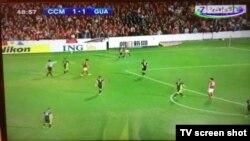 """O'tgan yili """"Sport"""" telekanali Osiyo Futbol Konfederatsiyasi Chempionlar ligasi o'yinini Al-Jazira telekanalidan yozib olib ko'rsatdi. (Surat Sanjar Rizayevning Twitter sahifasidan olindi)"""
