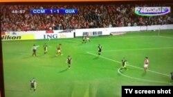 Sport TV Osiyo Futbol Konfederatsiyasi Chempionlar ligasi o'yinini Al-Jazira telekanalidan yozib olib ko'rsatdi. (Surat Sanjar Rizayevning Twitter sahifasidan olindi)