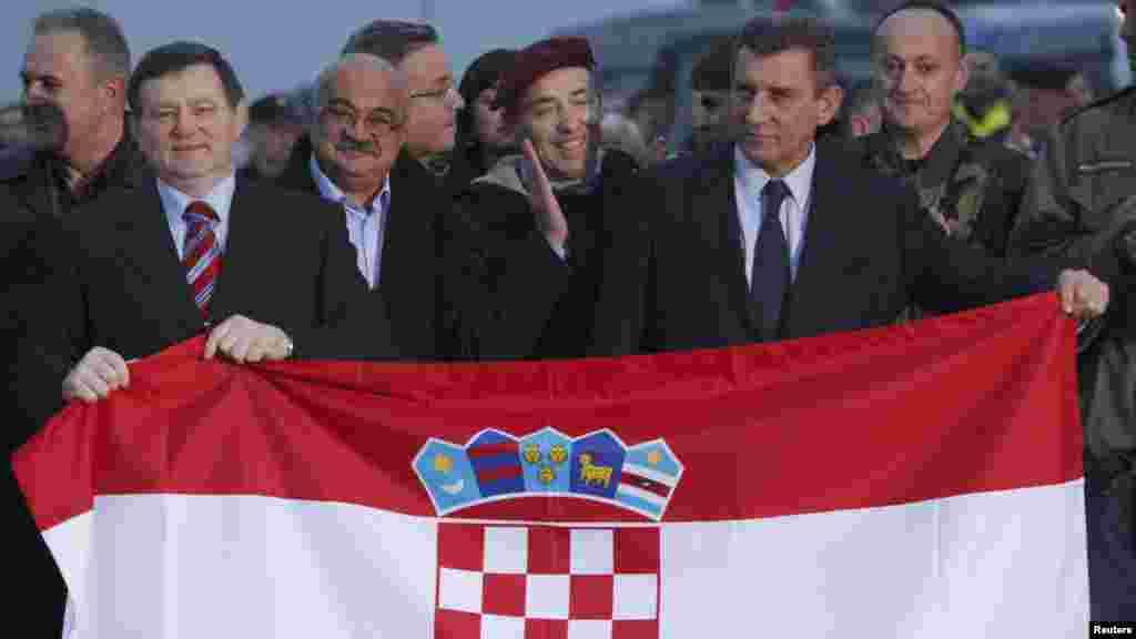 Generali po povratku u Zagreb, Reuters foto / Antonia Bronić