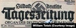 Südostdeutsche Tageszeitung (frontispiciul cu zvastica), 1941