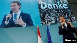 Себастіян Курц виступає перед прихильниками зі словами подяки за свою перемогу, Відень, 29 вересня 2019 року