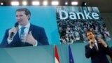 Sebastian Kurz, fostul cancelar și candidatul Partidului Poporului (OeVP)