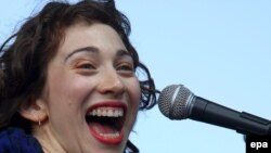 Regina Spektor performs at the Austin City Limits music festival in 2007.