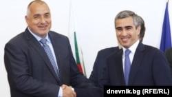Премьер-министр Болгарии Бойко Борисов с исполнительным директором Фонда «Гейдара Алиева» Анаром Алекперов