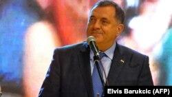 Republika Srpska leader Milorad Dodik on the campaign trail earlier this week.