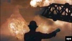 حريق آبار النفط الكويتية بعد إنسحاب الجيش العراقي