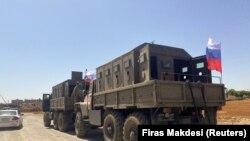 Российский военный конвой в Сирии, 9 сентября 2021 года