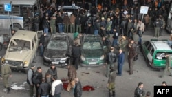 Последствия взрыва в Дамаске 6 января