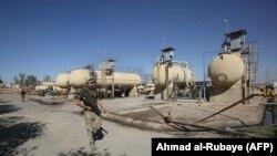 Bai Hassan neft yatağı İraq ordusunun nəzarətində, Kərkük. 17 oktyabr, 2017