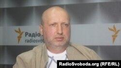 Александр Турчинов в студии Радио Свобода