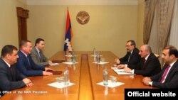 Президент НКР Бако Саакян встречается с представителями Абхазии, Южной Осетии и Приднестровья