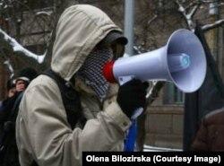 Алексей Макаров на акции протеста в Украине
