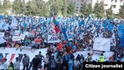 Митинг протеста Национального Совета на стадионе в Ясамале., Баку. Архивно-иллюстративное фото
