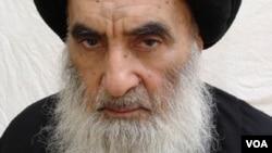 Iraq's top Shi'ite cleric, Ayatollah Ali Sistani
