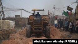 احد شوارع حي السلام في القرنة