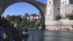 Traditional Bridge-Diving In Mostar