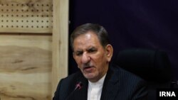 Iran's First Vice President Es'haq Jahangiri speaking in Tehran. June 13, 2020
