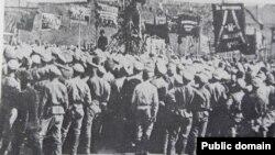Manifestația militarilor ruși la Bacău, 17 mai 1917