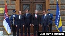 Predsednik Srbije i članovi Predsedništva BiH tokom susreta u Sarajevu