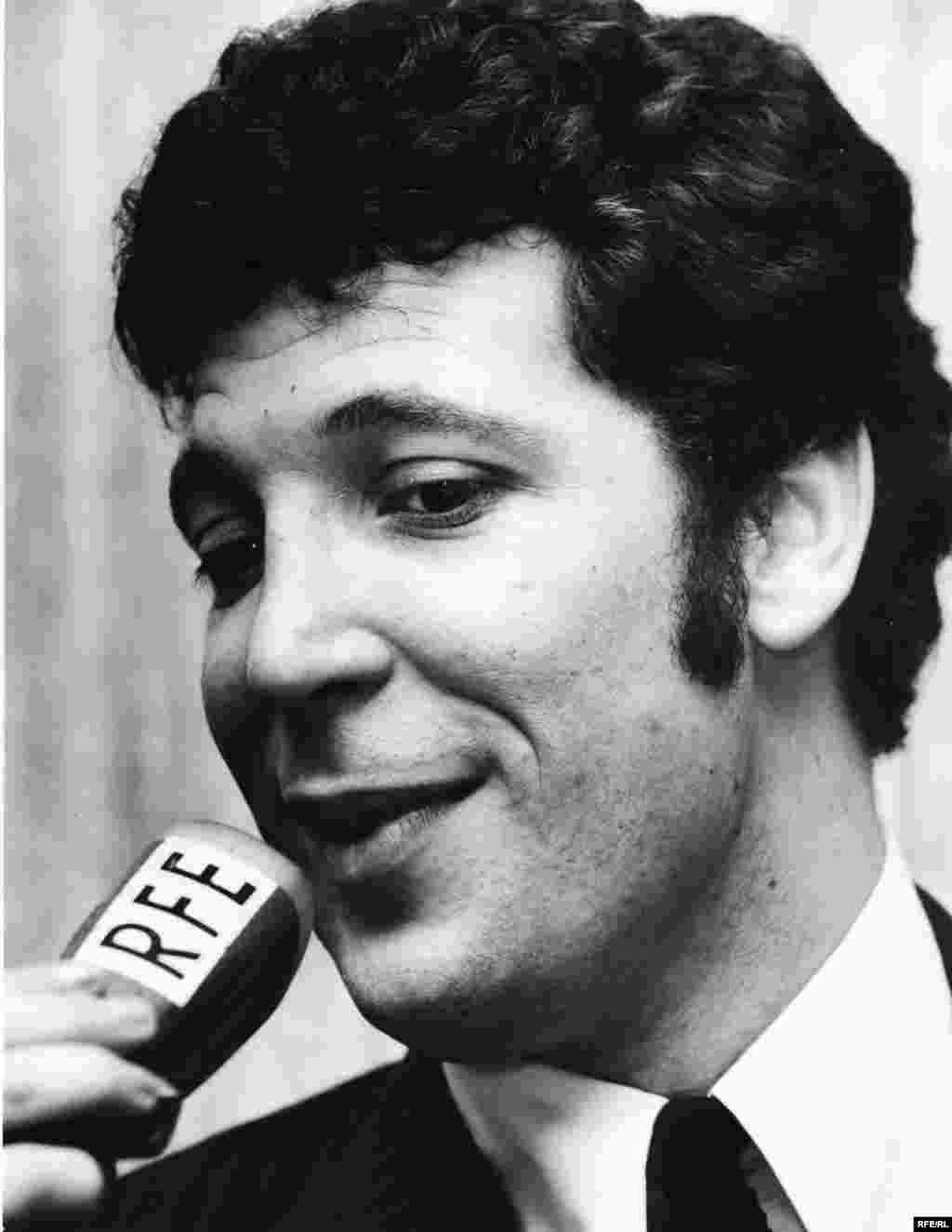 Singer Tom Jones is interviewed by Radio Free Europe, March 1968.